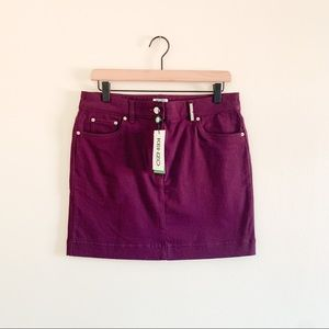 NWT Kenzo Paris Casual Purple Fall Mini Jean Skirt